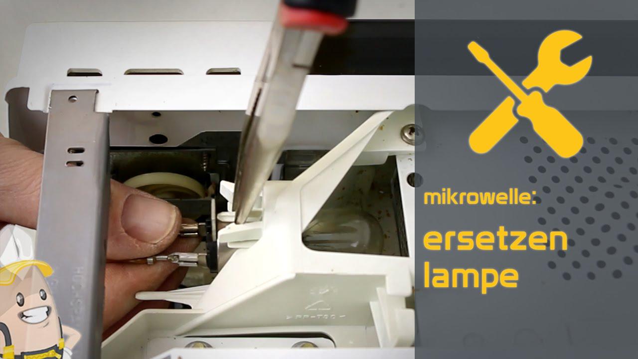 Aeg Kühlschrank Lampe Wechseln : Ersetzen der lampe ihrer mikrowelle das ersatzteilecenter