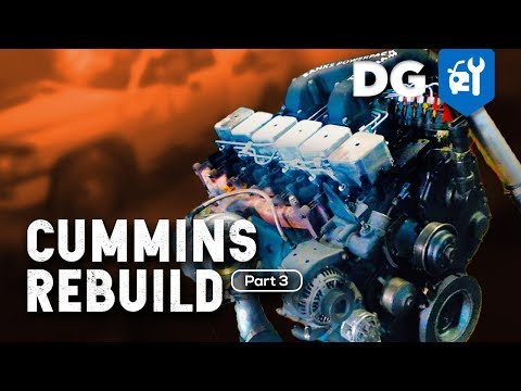 How To Rebuild A 5.9 Cummins 12v Diesel In A Million Mile Dodge (Part 3)