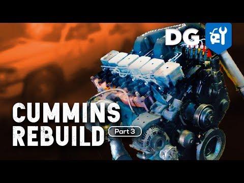 How To Rebuild A 5.9 Cummins 12v Diesel In A Million Mile Dodge #1Mil12v (Part 3)