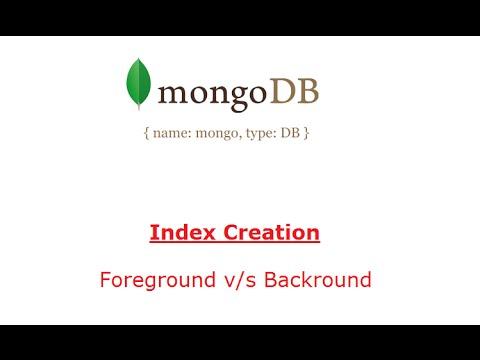 Background Index Creation: MongoDB