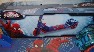 Самокат Disney Marvel Spider Man  ОБЗОР -  Review of the baby scooter Disney Marvel Spider Man
