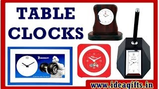 Print Your Brand Logo On Promotional Table Clocks By Idea Gifts.