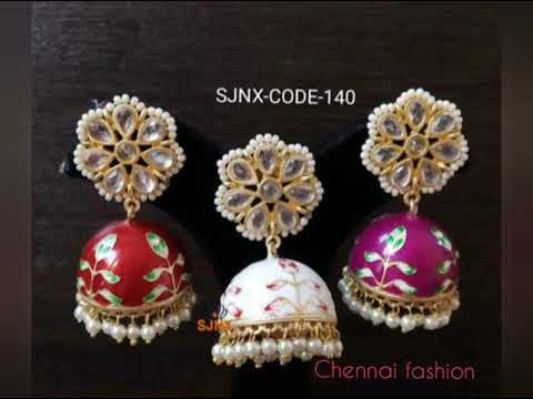 Imitation Jewellery Hand Painted Meenakari Kumka Collections From Chennai Fashion Youtube