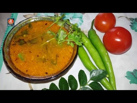 Telangana  Tamata Charu in Telugu (టమాటా చారు) Tomato Rasam