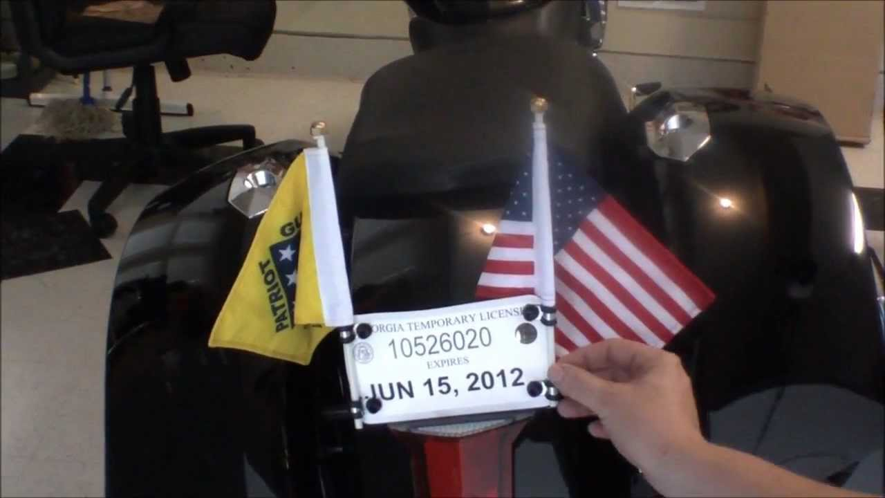How To Make Inexpensive Motorcycle Flag Poles Youtube