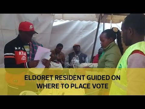 Eldoret resident guided on where to place vote