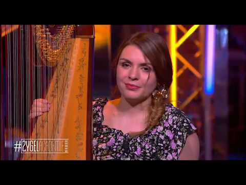 "Pauline Haas (harp) Plays ""La Source"" During A TV Show"