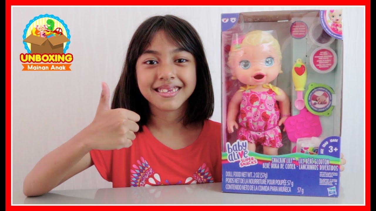 Mainan Anak Perempuan Boneka Bayi - Baby Alive Doll Snackin Lily Feeding  Food Giveaway 2017 (CLOSED) 85302697ad