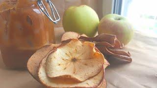 Хрустящие яблочные чипсы🌿просто и полезно 🌿 Crunchy apple chips #ппрецепты #янабенрецепты