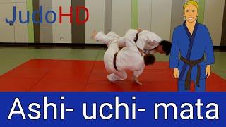 Blau: Ashi- uchi- mata [Judo]