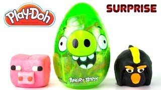 Opening a GIANT ANGRY BIRDS PIG EGG, Minecraft Blind Bag and MORE!