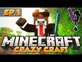 "Minecraft ""CRAZY CRAFT BEGINS!"" - CRAZY CRAFT Modded Survival - Ep. 1 ( Crazy Craft Part 1 )"