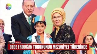 Dede Erdoğan torununun mezuniyet töreninde