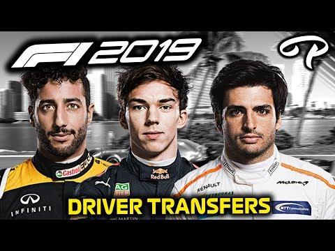 F1 2019 DRIVER TRANSFERS SUMMER BREAK MADNESS - Pitlane Podcast #94