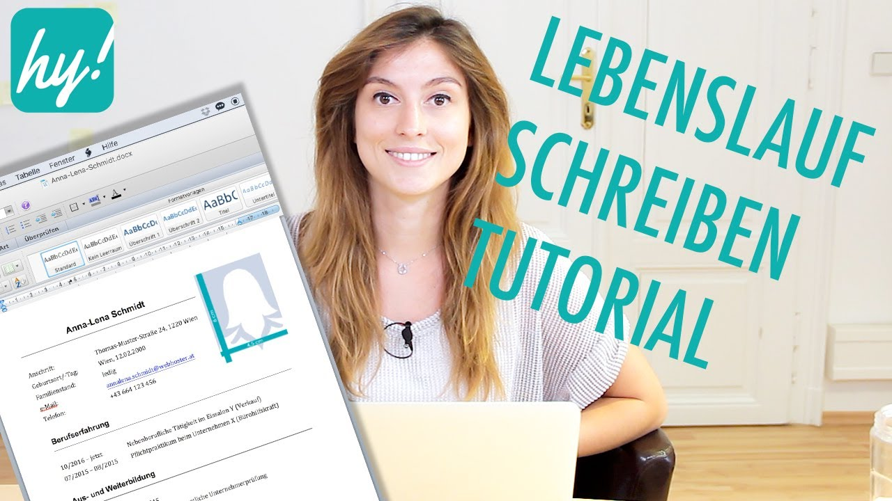 Lebenslauf schreiben Muster - MacBook (Word) Tutorial - YouTube