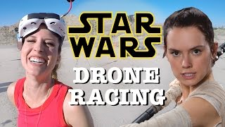 EPIC Star Wars Style DRONE RACING -- California