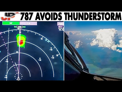 How to Avoid a Thunderstorm | Cockpit Boeing 787