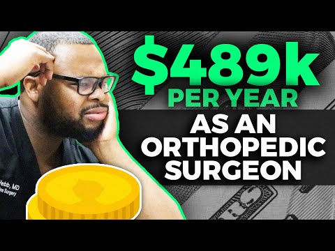 $489,000/year: Orthopedic Surgeons are the highest paid doctors!