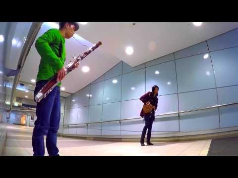 Jurassic World / Jurassic Park theme song -- Bassoon busking