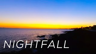 Nightfall At The Shore - A Relaxing Ocean Sounds Nature Meditation