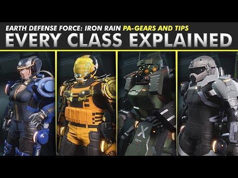 Earth Defense Force: Iron Rain   EVERY CLASS EXPLAINED + TIPS (Maximize Your Bug Squashing!)