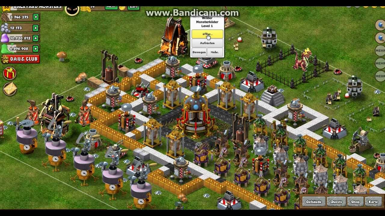 backyard monsters beste verteidigung rathaus lvl 8 youtube