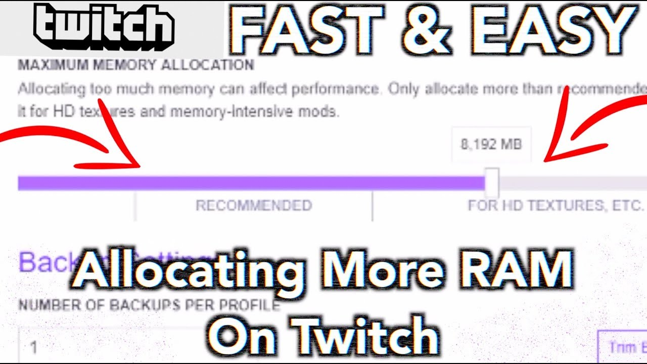 How To Allocate More Ram On Twitch Launcher Modded Minecraft Help Youtube