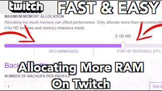 How To Allocate More Ram To Minecraft Twitch Launcher