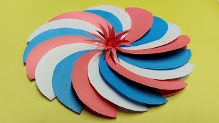 Paper flower from circles in origami,DIY Paper Crafts,How to make simple Paper,