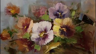 Techniques for Painting Flowers with Acrylics  Casual Pansies