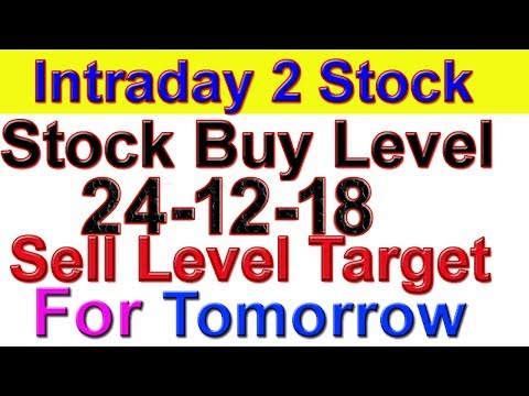 Intraday trading stock tips for tomorrow # Strong level in hindi | 24-12-18