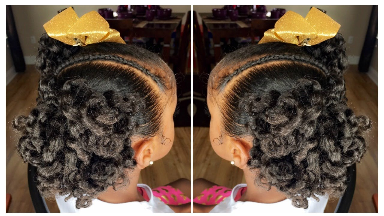 Curly Ponytails Tutorial Kids Natural Hairstyle