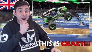 British Guy Reacts to BEST Monster Truck Freestyle Moments for the First Time