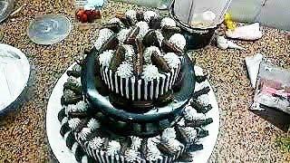 Oreo cake/ 3 floor Oreo  cake// birthday cake/ wading cake//update2019