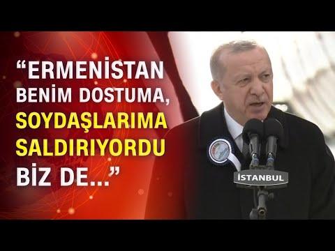 Cumhurbaşkanı Erdoğan'dan, F-515 Fırkateyni'nin denize indiriliş töreninde flaş açıklamalar