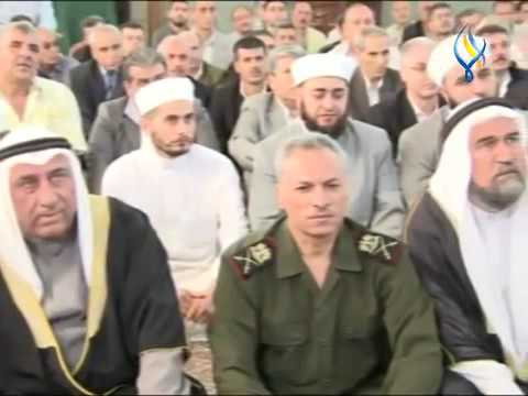 Syrian President Bashar al-Assad offering Eid ul Fitr Namaz in Homs - 2016