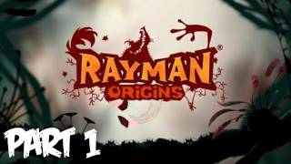 Rayman Origins Walkthrough Part 1 HD - The Fun Has Begun! - Let's Play (Xbox 360/PS3/Wii Gameplay)