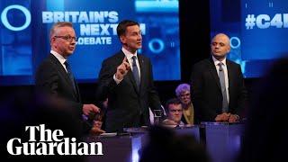 Tory leadership candidates take aim at no-show Boris in TV debate
