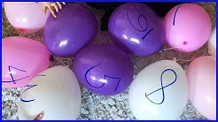 Balloon Popping Show, Learn Numbers 1-10, Ten Little Numbers