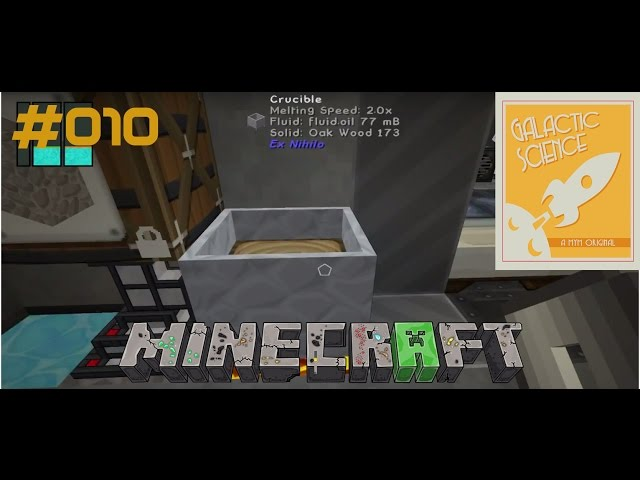 Let's Play Minecraft Galactic Science | Das erste Oil | Folge #010