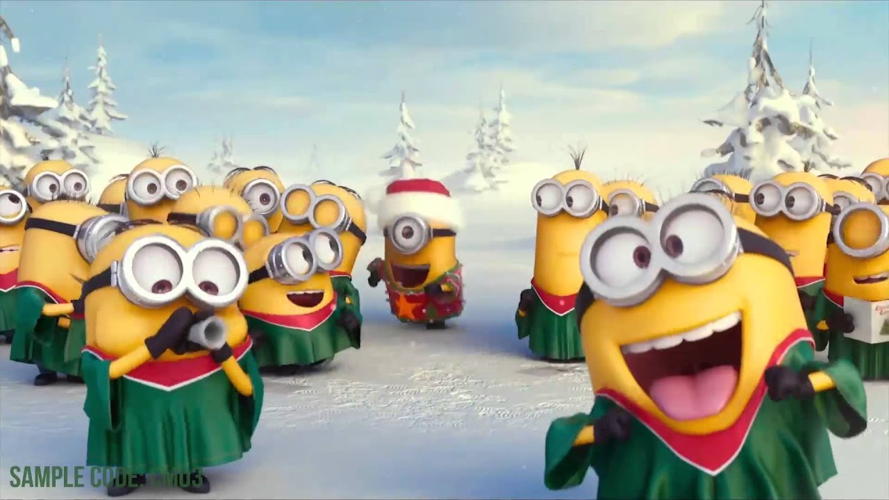 minions wishing merry christmas with your logo make your own logo reveal with minions youtube - Christmas Minions
