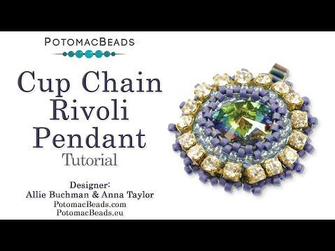 Cup Chain Rivoli Pendant