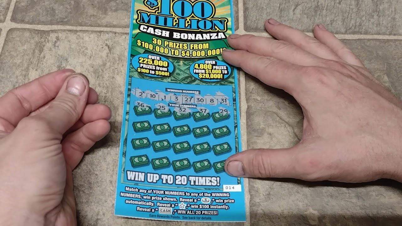 WINNER!! $20 CASH BONANZA MISSOURI SCRATCH OFF LOTTERY TICKET