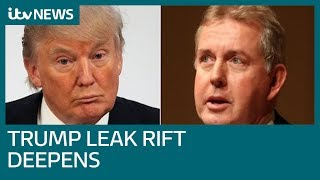 Donald Trump says US will 'no longer deal' with US ambassador after memo leak | ITV News