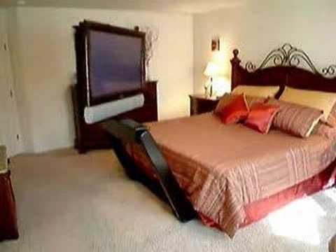 Coolest bedroom tv setup - YouTube