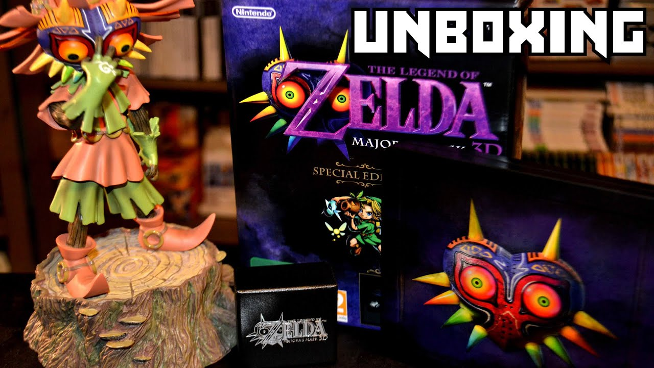 [UNBOXING] Edition Speciale Collector Zelda Majora's Mask Nintendo 3DS Coffret avec SteelBook