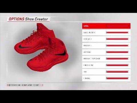 40d7c46bc9bf NBA 2K18 Shoe creator  NBA2K18  lebron 10s Red suede PE - YouTube