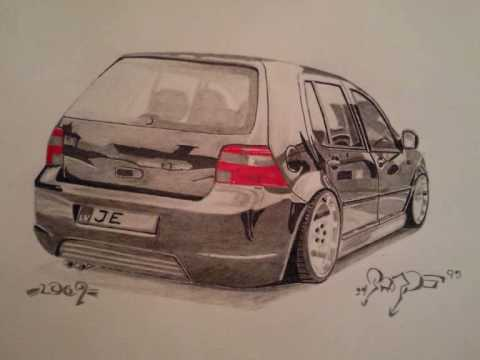 car drawing youtube