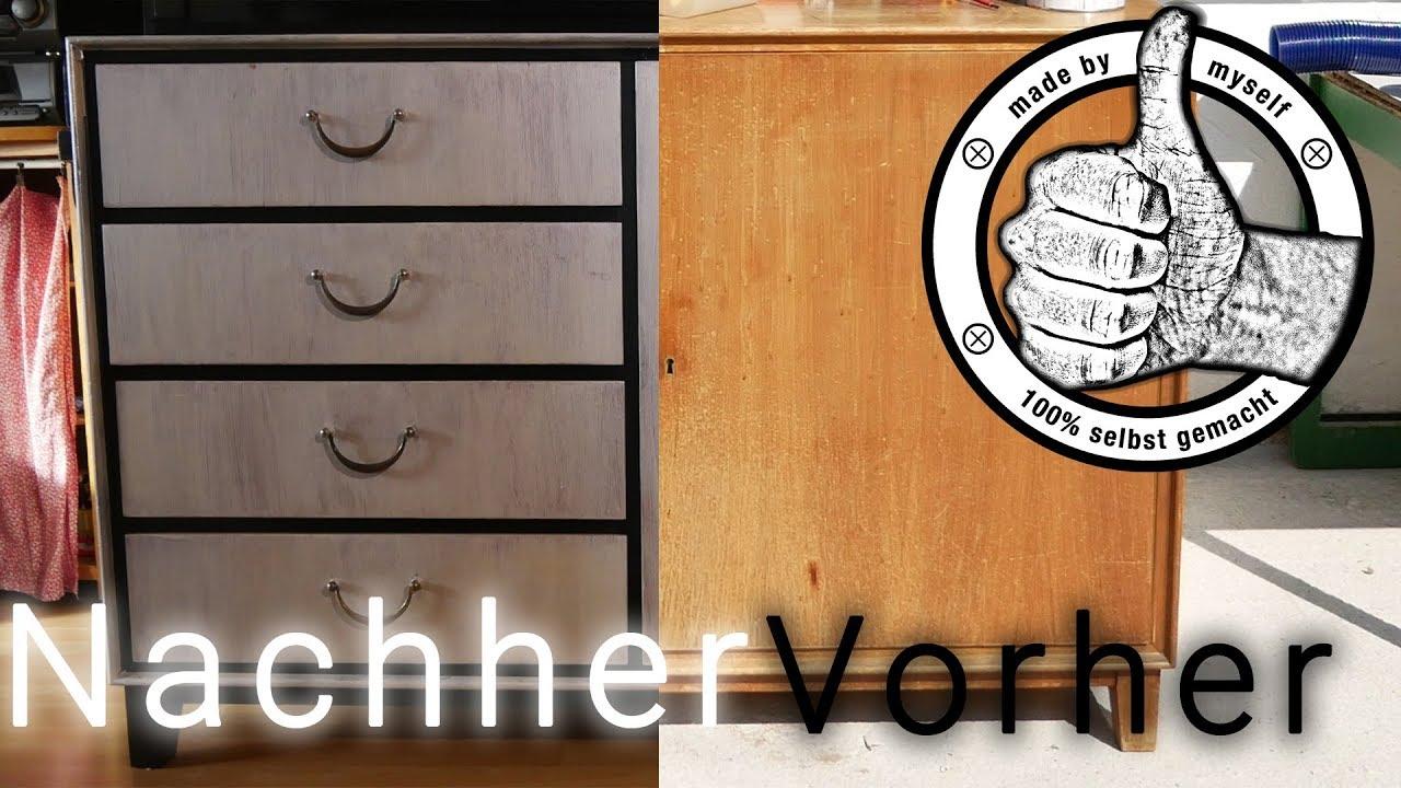 Alte Möbel Mit Kreidefarbe Streichen Kommode Im Shabby Chic Style