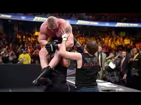 Brock Lesnar Vs Roman Reigns Vs Dean Ambrose Full...